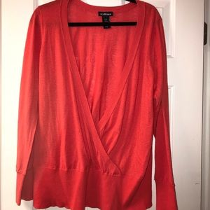 Lane Bryant sweater top coral color size 14/16